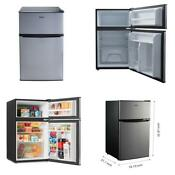 Home Office Small Compact 3 1 Cu Ft Stainless 2 Door Refrigerator Fridge Freezer