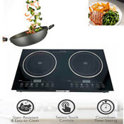 Double Induction Cooktop Digital Electric Countertop Burner Sensor Touch Stove