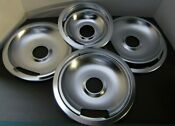 Electric Range Drip Bowl Pans And Trim Ring Set Chrome 3 8 1 6