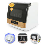 Portable 5l Complete Countertop Dishwasher 360 Streak Free Deep Cleaning