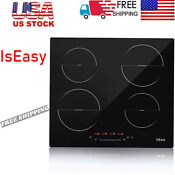 23 Induction Hob 4 Burners Stove Cooktop Kitchen Glass Electric Cooktop Iseasy