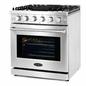 Cosmo 30 Inch 4 5 Cubic Foot Gas Range Convection Oven With 5 Italian Burners