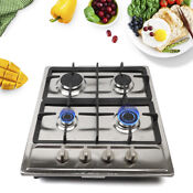 23 Inch Stainless Steel 4 Burners Built In Stove Top Gas Cooktop Home Kitchen