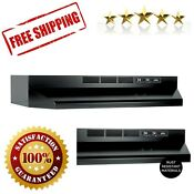 Non Ducted Ductless Range Hood With Lights Exhaust Fan Under Cabinet 30 In Black