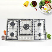 4 5 Burner Stove Stainless Steel Built In Natural Gas Cooktop Home Commercial Us
