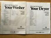 Ge Spacemaker Washer Dryer Manuals Ddp1375g Ddp1380g Wwp1170g Wwp1180g