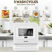 With 5l Portable Dishwasher Built In Water Tank Fruit 2 Water Supply Modes