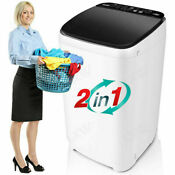 26lbs Compact Portable Washing Machine Twin Tub Spiner Laundry Washer Dryer Us