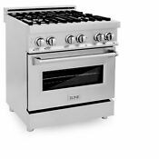 Zline 30 Inch 4 0 Cubic Foot Stainless Steel Range W Gas Stove Electric Oven