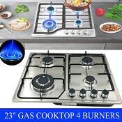 23 Gas Cooktop Stove Stainless Steel Ng Lpg Cook Top Hob Cooker With Plug