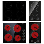 12 24 Electric Ceramic Induction Cooktop 2 4 Burners Built In Cooking Hob