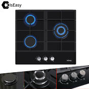 3 Burner Gas Stovetop 24 Built In Tempered Glass Natural Gas Propane Cooktops
