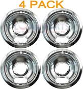 4 Pack Whirlpool Stove Range Cooktop 6 Burner Chrome Drip Pan Bowl 4389591