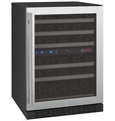 Allavino 56 Bottle Built In Wine Cooler Refrigerator Stainless Steel Dual Zone