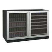 Allavino Side By Side Wine Refrigerator Beverage Center Stainless Steel