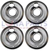 4 Pack Whirlpool Maytag Jenn Air Stove 6 Chrome Drip Pan Bowl W10196406