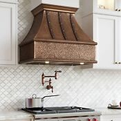 36 Tuscan Series Copper Wall Mount Range Hood With Riveted Bands