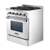 30 Stainless Steel Dual Fuel Range 4 2 Cu Ft Oven Capacity Kitchen Single Oven