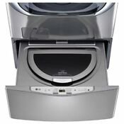 Lg Sidekick Wd100cv 1 0cf 6 Cycle High Efficiency Pedestal Washer Graphite Steel