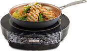 Nuwave Pic Gold Precision Induction Cooktop With 10 5 Hard Anodized Fry Pan