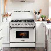36 6 Burner Dual Fuel Gas Range Electric Oven Stainless Steel Cooker T3l9