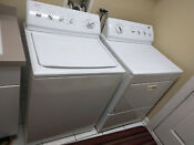 Kenmore 110 Top Load Washer Front Load Dryer King Size White