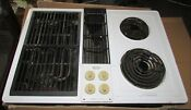 Jenn Air White Electric Downdraft Drop In Cook Top