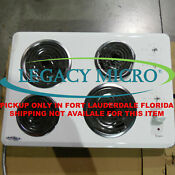 Whirlpool Wcc31430aw 30 Electric Cooktop White Knobs Not Included