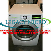 Lg Dle3500w 7 4cf 10 Cycle Electric Dryer Wifi Front Load White
