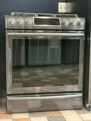 Samsung 30 Slide In Gas Range Black Stainless Steel