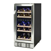Newair 29 Bottle Dual Zone Wine Cooler Fridge Free Standing Or Under Counter
