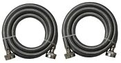 Stainless Steel Washing Machine 4 Set Inlet Fill Hoses With Washers