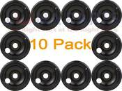 10 Pack Whirlpool Range 8 Black Drip Pan Bowl 305839b 059012b 04100528 04100393
