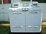 Vintage 1940s Gas Stove Brockton Works Perfectly 40 Width 4 Burner 2 Oven