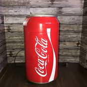 Koolatron Cc 06 Coca Cola Mini Fridge Coke Can Shape 8 Cans Collectible Novelty