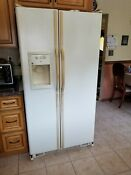 Ge Refrigerator Gss25jfmd Cc White Side By Side