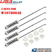 Set Of 4 Washer Suspension Rods Kit For Whirlpool Ap5971398 Ps11703290 W10780048