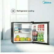 Midea Whs 65lss1 1 6 Cu Ft Compact Refrigerator Stainless Steel