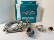 Smart Choice 6 Stainless Steel Dishwasher Install Kit W Power Cord 2018
