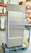 Sub Zero 36 Bottom Freezer Built In Refrigerator Flawless Stainless Doors