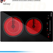 Iseasy 12 Electric Vitro Ceramic Surface Radiant Electric Cooktop W 2 Burners