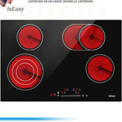Iseasy 30 Electric Vitro Ceramic Surface Radiant Electric Cooktop W 4 Burners