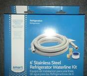 New In Box Smart Choice 6 Stainless Steel Refrigerator Water Line Kit Silver