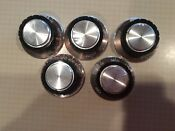 Vintage Tappan Gas Stove Knobs Set Of 5 From Model 30 2242 23