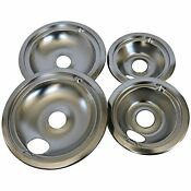 Wb31t10010 And Wb31t10011 Replacement Chrome Drip Pans For Ge Hotpoint