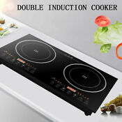 2400w 2600w Induction Cooker Countertop Dual Cooker Burner Stove Hot Plate Cook