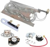 3387747 New Dryer Heating Element Kit Thermal Fuse For Kenmore Samsung Whirlpool