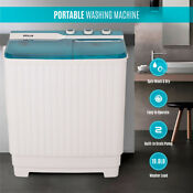Portable Compact Twin Tub 9kg Washing Machine Washer Rv Spin Dryer Top Load