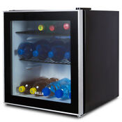 Beverage Refrigerator Mini Wine Fridge Soda Beer Drinks Bar Cooler Glass Door