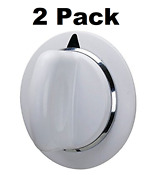 Dryer Timer Knob Assembly Part For Ge Hotpoint White D Shaft Replacement 2 Pack